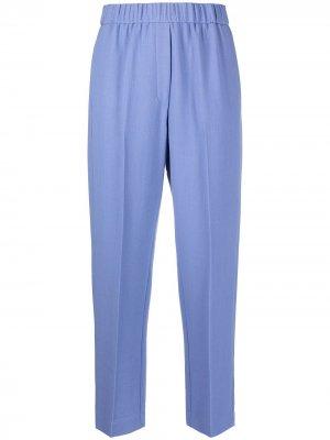 Зауженные брюки Forte. Цвет: синий