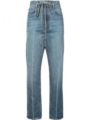 Укороченные расклешенные джинсы PSWL Proenza Schouler. Цвет: синий