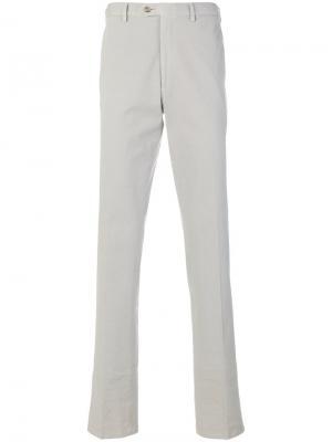 Классические брюки-чинос Brioni. Цвет: серый