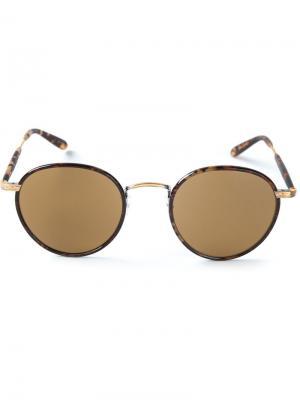 Солнцезащитные очки Wilson Garrett Leight. Цвет: коричневый