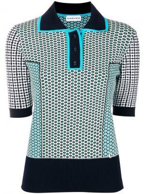 Motifs polo shirt Carven. Цвет: синий