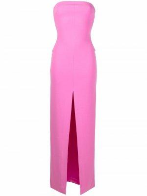 Платье Bysha с разрезом Solace London. Цвет: розовый