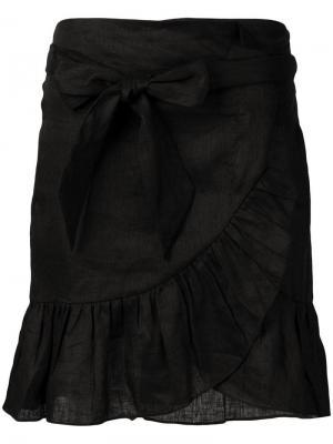 Tempster wrap-effect skirt Isabel Marant Étoile. Цвет: черный
