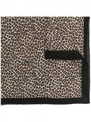 Платок с леопардовым принтом Destin. Цвет: коричневый