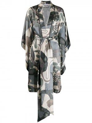 Кимоно с рукавами широкого кроя Carine Gilson. Цвет: зеленый