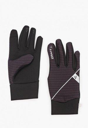 Перчатки Craft. Цвет: черный