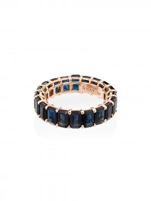 Золотое кольцо Eternity с сапфиром SHAY. Цвет: голубой