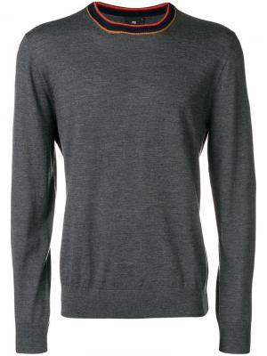 Striped crew-neck sweater Ps By Paul Smith. Цвет: серый