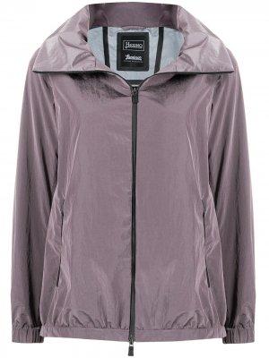 Куртка на молнии Herno. Цвет: фиолетовый