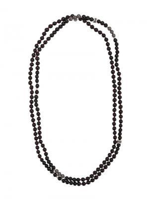 Mesh bead necklace Tateossian. Цвет: черный