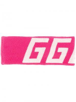 Повязка на голову с логотипом Golden Goose Deluxe Brand. Цвет: розовый
