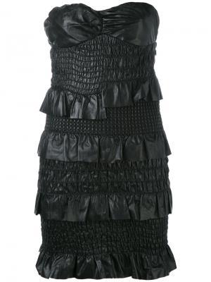 Платье без бретелек Drome. Цвет: черный