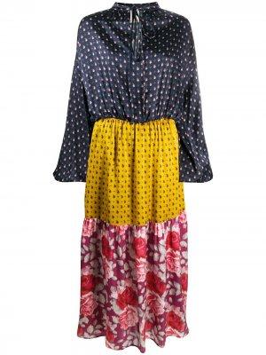 LAutre Chose платье с принтом L'Autre. Цвет: синий