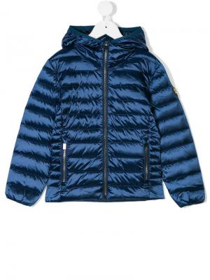 Подростковая дутая куртка с металлическим отблеском Ciesse Piumini Junior. Цвет: синий