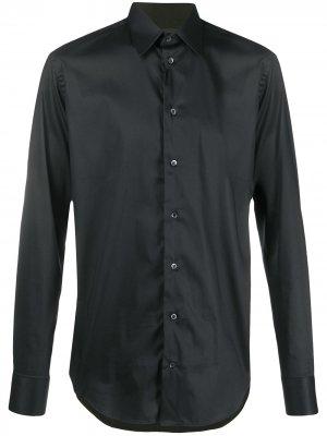 Однотонная рубашка с длинными рукавами Emporio Armani. Цвет: черный