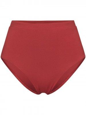 Плавки бикини Tatiana с завышенной талией Bondi Born. Цвет: красный