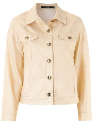 Джинсовая куртка на пуговицах Eva. Цвет: золотистый