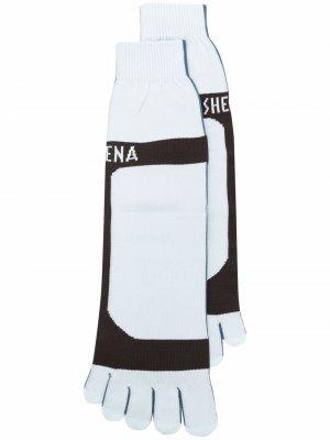 Носки с логотипом Ssheena. Цвет: синий