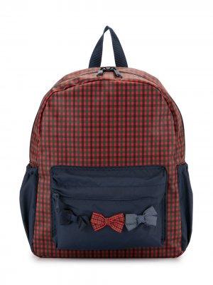 Клетчатый рюкзак с бантом Familiar. Цвет: разноцветный