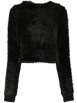 Фактурное худи RtA. Цвет: черный
