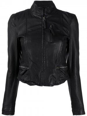 Приталенная куртка с длинными рукавами Munderingskompagniet. Цвет: черный