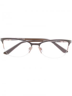 Очки в прямоугольной оправе Swarovski Eyewear. Цвет: коричневый