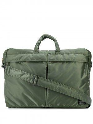 Сумка для ноутбука с карманами Porter-Yoshida & Co.. Цвет: зеленый