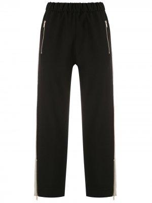 Укороченные брюки с лампасами Gloria Coelho. Цвет: черный