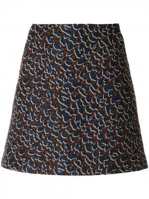 Короткая юбка облегающего кроя Karen Walker. Цвет: красный