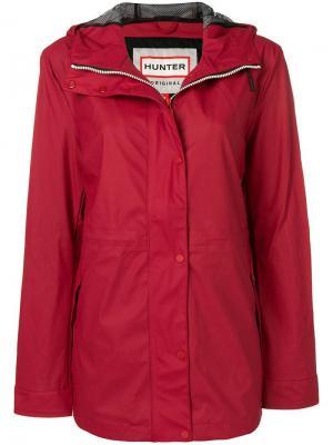 Непромокаемая куртка с капюшоном Hunter. Цвет: красный