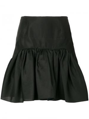 Расклешенная мини-юбка Antonio Berardi. Цвет: черный