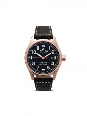 Наручные часы Startimer Pilot Chronograph 44 мм Alpina. Цвет: голубой