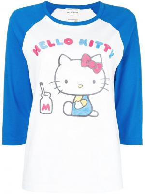 Hello Kitty contrast panel T-shirt Chinti & Parker. Цвет: белый