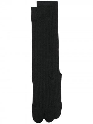 Носки в рубчик Jil Sander. Цвет: черный