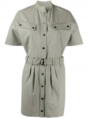 Джинсовое платье Zolina Isabel Marant Étoile. Цвет: зеленый