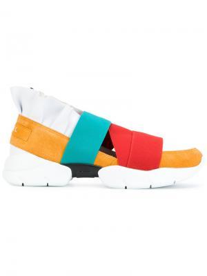 Кроссовки с дизайном ремешками Emilio Pucci. Цвет: разноцветный