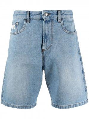 Джинсовые шорты широкого кроя Gcds. Цвет: синий