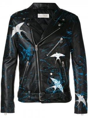 Кастомизируемая кожаная куртка Faith Connexion. Цвет: черный