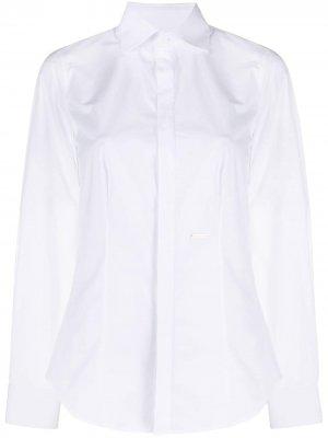 Рубашка строгого кроя Dsquared2. Цвет: белый