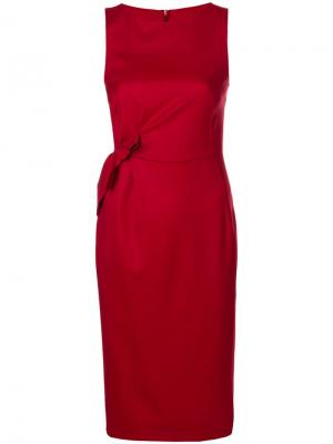 Платье миди с бантом P.A.R.O.S.H.. Цвет: красный