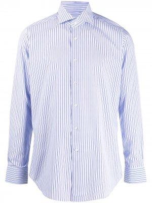 Полосатая рубашка с длинными рукавами Tagliatore. Цвет: синий