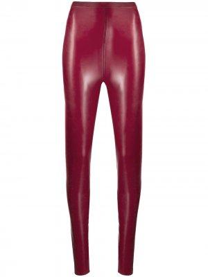 Обтягивающие легинсы Saint Laurent. Цвет: красный