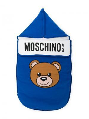 Спальный мешок с принтом Moschino Kids. Цвет: синий