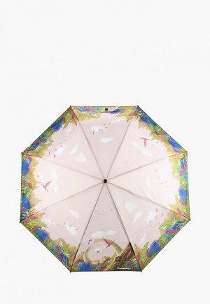 Зонт складной Braccialini. Цвет: разноцветный
