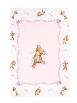 Одеяло с принтом Teddy Bear Monnalisa. Цвет: розовый