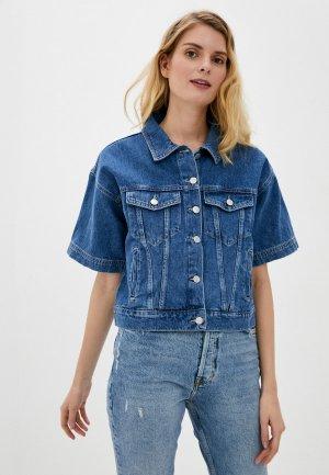 Куртка джинсовая adL. Цвет: синий