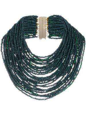 Ожерелье из бисера Rosantica. Цвет: зеленый