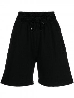 Спортивные шорты с завышенной талией AGOLDE. Цвет: черный