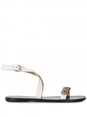 Декорированные сандалии Eldory Isabel Marant. Цвет: белый