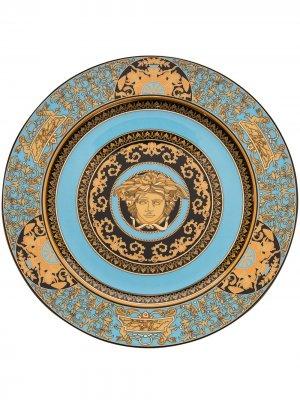 Сервировочная тарелка Medusa Celest (30 см) Versace Home. Цвет: синий